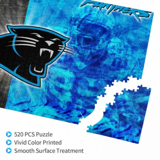 1 Pack of 520 Piece Carolina Panthers Picture puzzle #168887, for Adults, Families